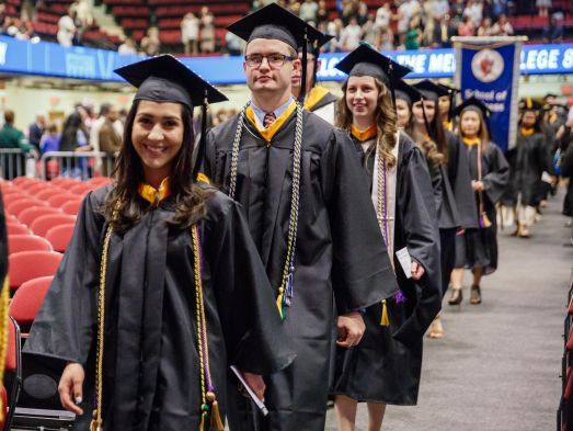 Mercy students at Graduation Ceremony